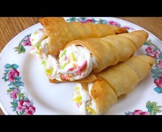 cream roll recipe without oven | how to make cream roll at home | cream rolls recipe puff pastry - YouTube