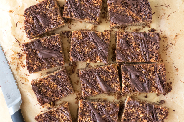 Coconut and Chocolate Flapjacks