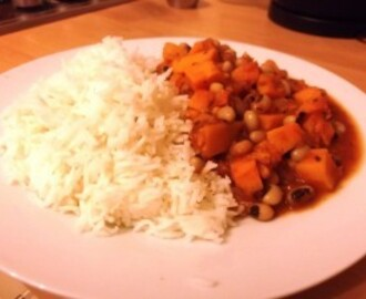 Jamaican Black-eyed Bean and Sweet Potato Curry
