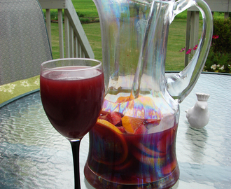 Sangria.....made 5 bottles worth of this stuff at our party this weekend...it was so good!