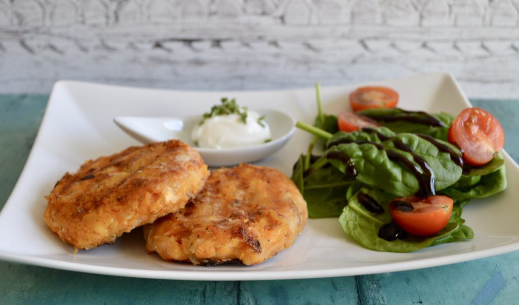 Gluten and Dairy Free Sweet Potato Chilli Salmon Patties