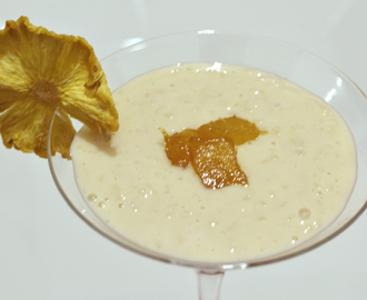 Pina Colada Rice Pudding (Dairy, gluten and sugar free)