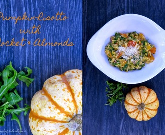 [cooks...] Pumpkin Risotto with Rocket and Almonds