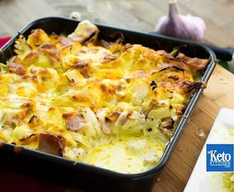 "Keto Cauliflower Bake Recipe – ""Cheesy Bacon"" – Low Carb, EASY & Delicious!"