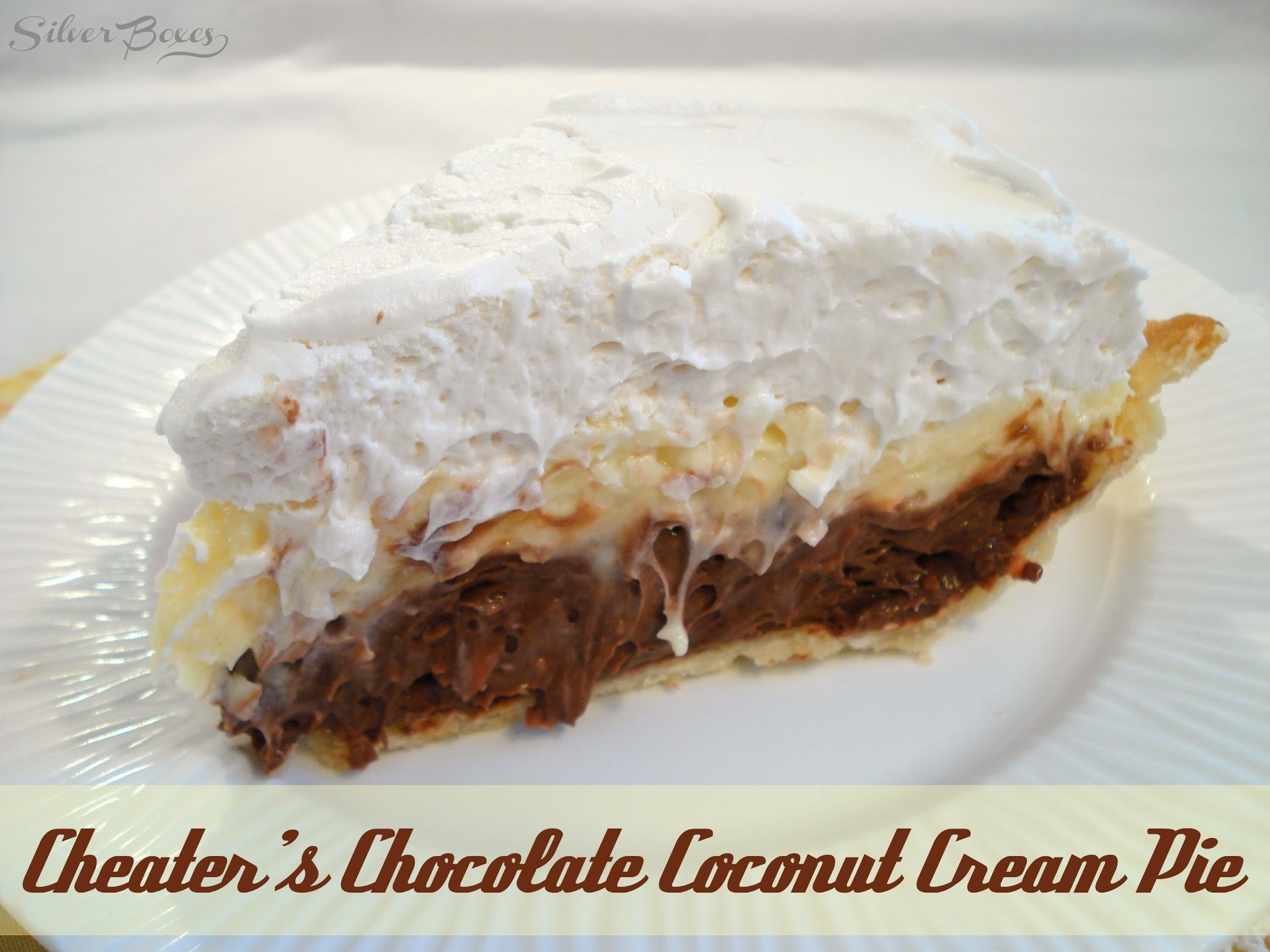 Cheater's Chocolate Coconut Cream Pie