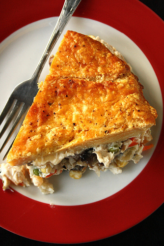 Bobby Flay's Smoked Chicken Pot Pie with Sweet Potato Crust