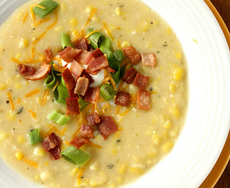 Spicy & Slightly Decadent Corn Chowder