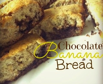 Recipe. 4 Ingredient Chocolate Banana Bread.