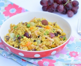 Healthy Fruity Prawn Fried Rice Recipe
