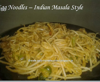 Egg Noodles - Indian Masala