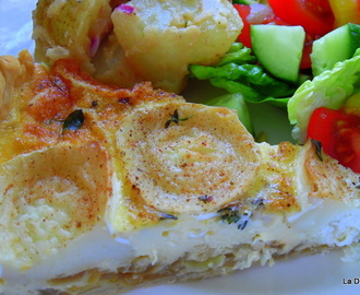 Dreamy Goat's Cheese, Thyme & Caramelised Onion Quiche