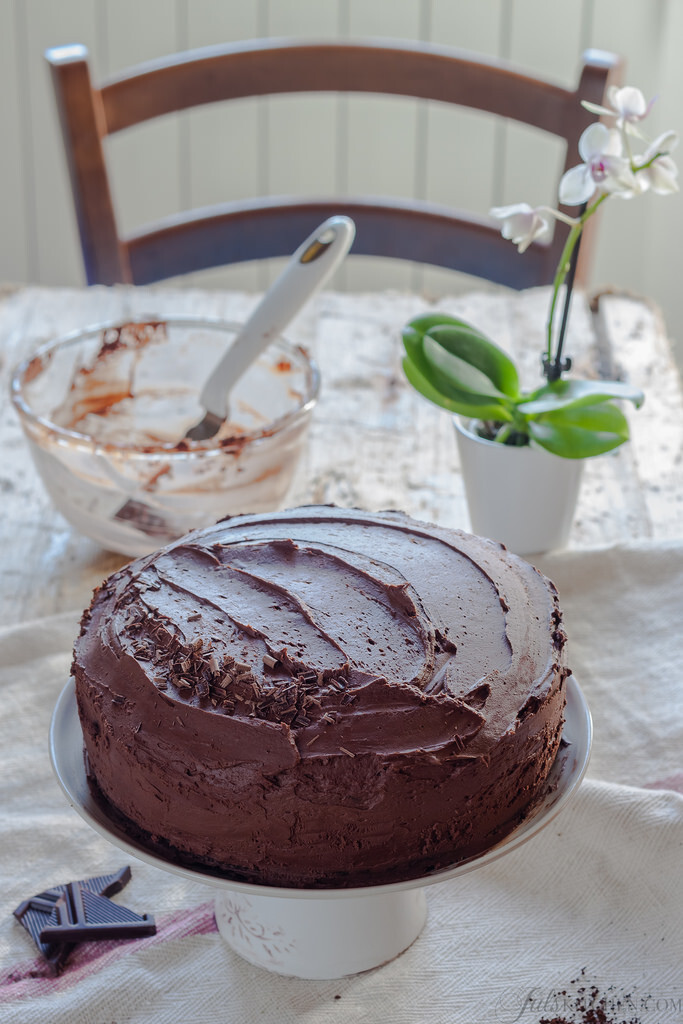 Happiness is (sharing) a slice of chocolate cake