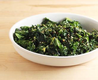 Kale with Chili Flakes and Sesame Seeds