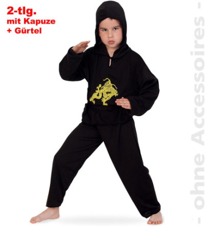 Ninja dräkt barn fighters karate fighter barn kostym