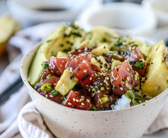 Ahi Poke Bowls with Pineapple and Avocado