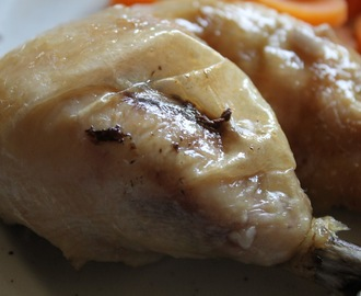 Slow cooker 'roast' chicken and gravy