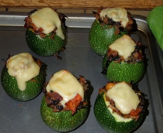 Madhouse recipe : Chorizo & Kale Stuffed Courgettes