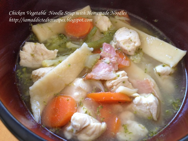 Chicken Vegetable Soup with Homemade Noodles