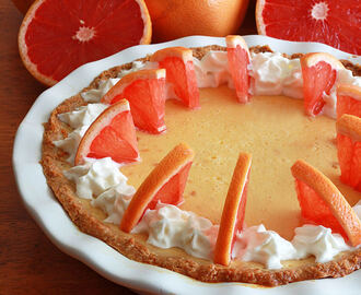 Pink Grapefruit Cream Pie