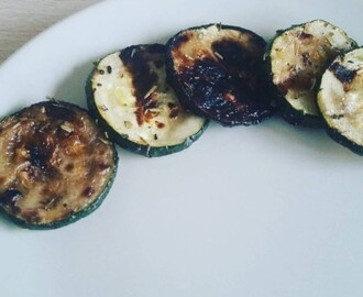 Courgette op de barbecue
