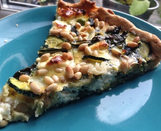 Spinach, Feta & Pine Nut Quiche