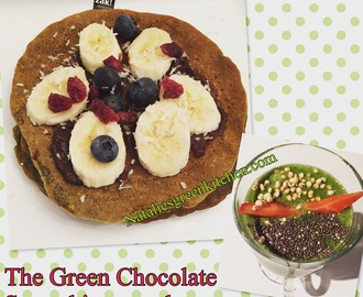 The Green Chocolate Smoothie-Pancakes