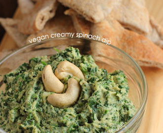 Vegan Creamy Spinach Dip #AppetizerWeek