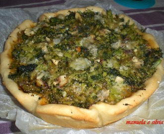 Quiche peperoni, broccoli e gorgonzola
