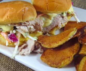 Pork Sliders with Honey-Mustard Aioli