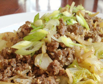 Chinese cabbage with meat sauce recipe