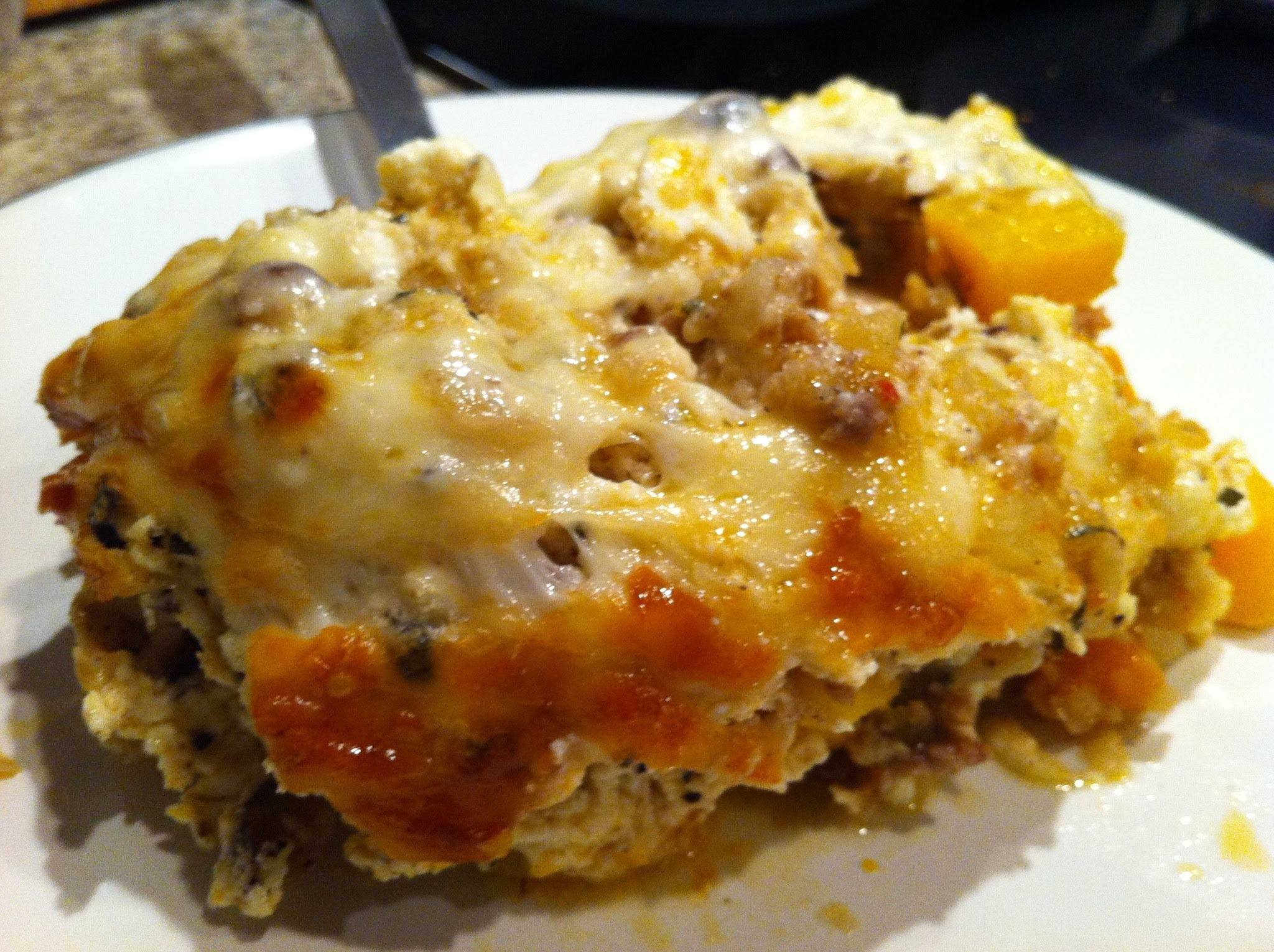Butternut Squash and Italian Sausage Lasagna with Sage