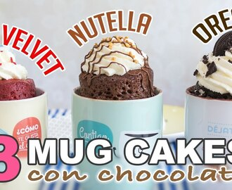 3 Mug cakes con chocolate | Red Velvet, Nutella y Oreo | Quiero Cupcakes!