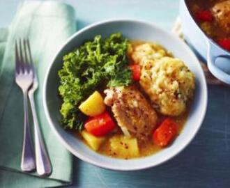 Somerset chicken casserole with sage dumplings