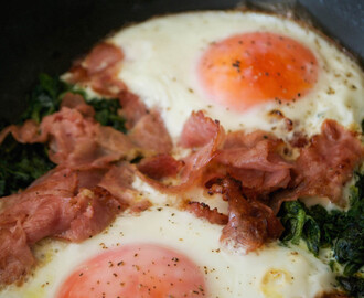 One Pan Breakfast: Ham, Eggs and Spinach