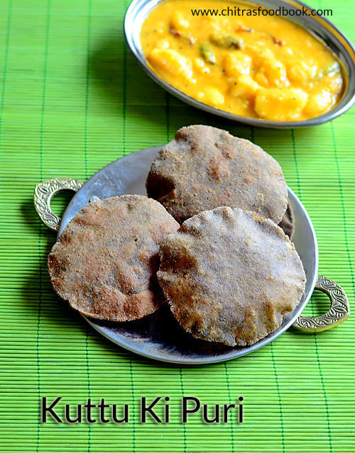 Kuttu Atta Poori Recipe – Kuttu Ki Puri - Buckwheat Flour Recipes Indian