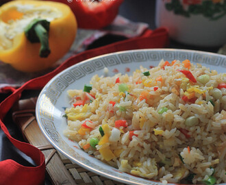 灯笼椒炒饭(素)【Bell Pepper Fried Rice】