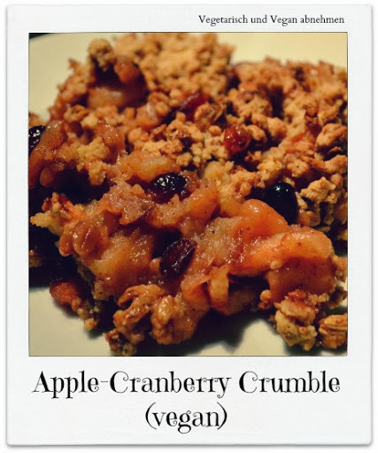 Apple - Cranberry Crumble (vegan)