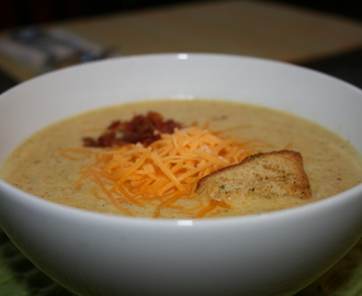 Broccoli Cheddar Soup, Quick and Easy