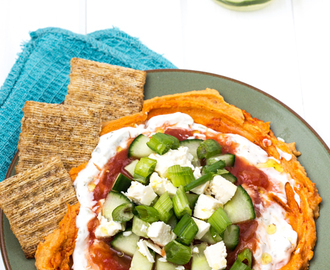 Hummus, Feta Layered Dip with Triscuit #InspiredOccasions