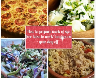 Recipe: Prepare a week of Syn Free 'take to work' lunches on your day off!