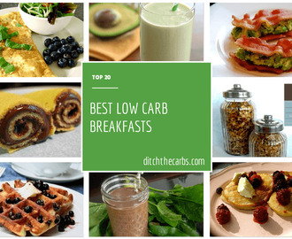 Top 20 Low Carb Breakfasts