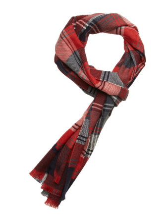Bo Scarf W Check Lambswool Red Check