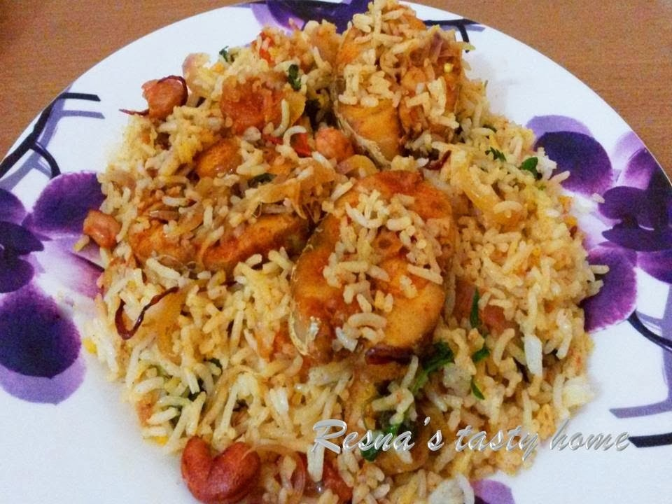 Fish biriyani 2 - with stepwise picture
