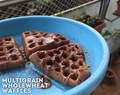 Breakfast Challenge Day – 02, Banana & Raisins Wholewheat Waffles