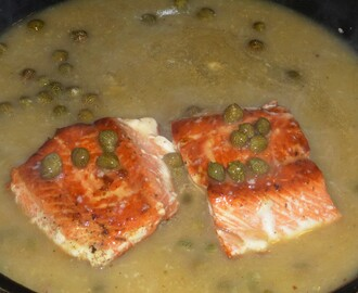 Sockeye Salmon with a Low Fat Lemon and Caper Sauce Recipe