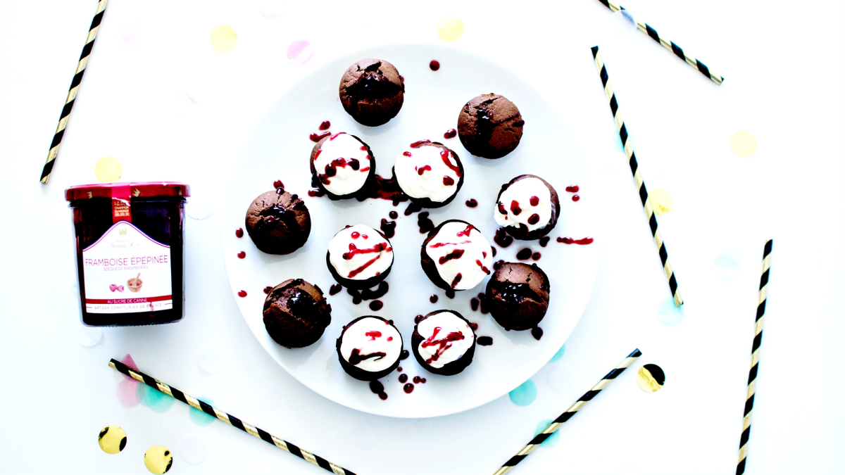 Bloody Cupcakes – Chocolat, Creamcheese et Confiture de Framboise
