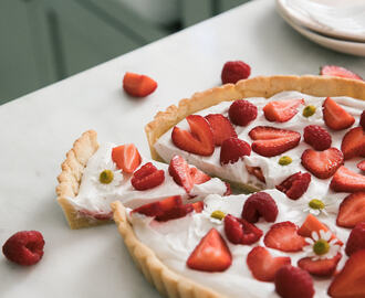 Gluten-Free Summer Strawberry Coconut Tart