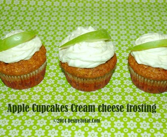 Apple Cupcakes Cream Cheese Frosting