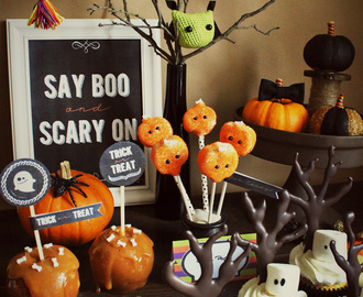 Halloween Sweet Table und ein Berg Printables