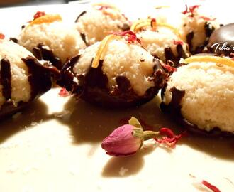 Kokos Schoko Kuppeln – raw coconut balls with chocolat cream